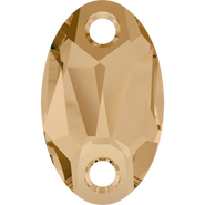 Swarovski Sew-on 3231 - 18x11mm, Crystal Golden Shadow (001 GSHA) Unfoiled, 96pcs