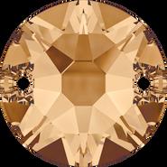 Swarovski Sew-on 3288 - 12mm, Crystal Golden Shadow (001 GSHA) Foiled, 72pcs