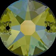 Swarovski Sew-on 3288 - 12mm, Crystal Iridescent Green (001 IRIG) Foiled, 72pcs