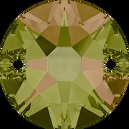Swarovski Sew-on 3288 - 12mm, Crystal Luminous Green (001 LUMG) Foiled, 72pcs