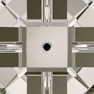 Swarovski Sew-on 3400 - 6mm, Crystal Satin (001 SAT) Foiled, 360pcs