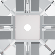 Swarovski Sew-on 3400 - 8mm, Crystal (001) Foiled, 288pcs