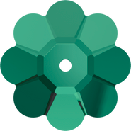 Swarovski Sew-on 3700 - 6mm, Emerald (205) Unfoiled, 720pcs