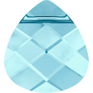 Swarovski Pendant 6012 - 11x10mm, Aquamarine (202), 144pcs