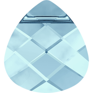 Swarovski Pendant 6012 - 15.4x14mm, Aquamarine (202), 72pcs