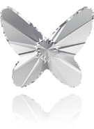 Swarovski Flatback 2854 - 12mm, Crystal (001) Foiled, 2pcs, No Hotfix