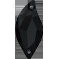 Swarovski Sew-on 3254 - 20x9mm, Jet (280) Unfoiled, 2pcs