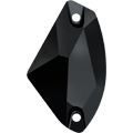 Swarovski Sew-on 3256 - 19x11.5mm, Jet (280) Unfoiled, 2pcs