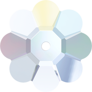 Swarovski Sew-on 3700 - 8mm, Crystal Aurore Boreale (001 AB) Unfoiled, 12pcs