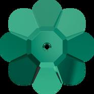 Swarovski Sew-on 3700 - 8mm, Emerald (205) Unfoiled, 12pcs
