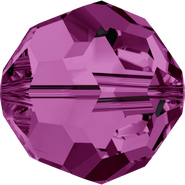 Swarovski Bead 5000 - 10mm, Amethyst (204), 6pcs