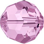 Swarovski Bead 5000 - 5mm, Light Amethyst (212), 20pcs