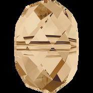 Swarovski Bead 5040 - 6mm, Crystal Golden Shadow (001 GSHA), 10pcs