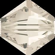 Swarovski Bead 5328 - 8mm, Crystal Silver Shade (001 SSHA), 12pcs