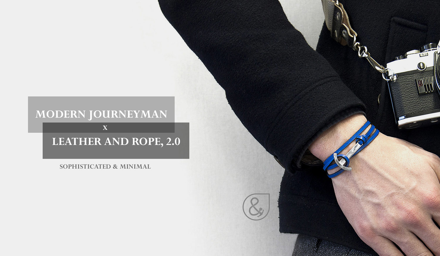 Sophisticated and Minimal. Rope, Leather and Anchor Bracelets