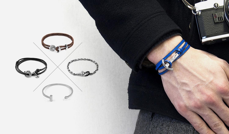 Anspruchsvoll und Minimal. Seil-, Leder- und Ankerarmbänder