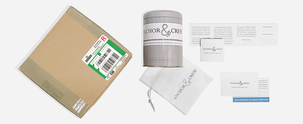 Anchor And Crew Official Packaging And Delivery