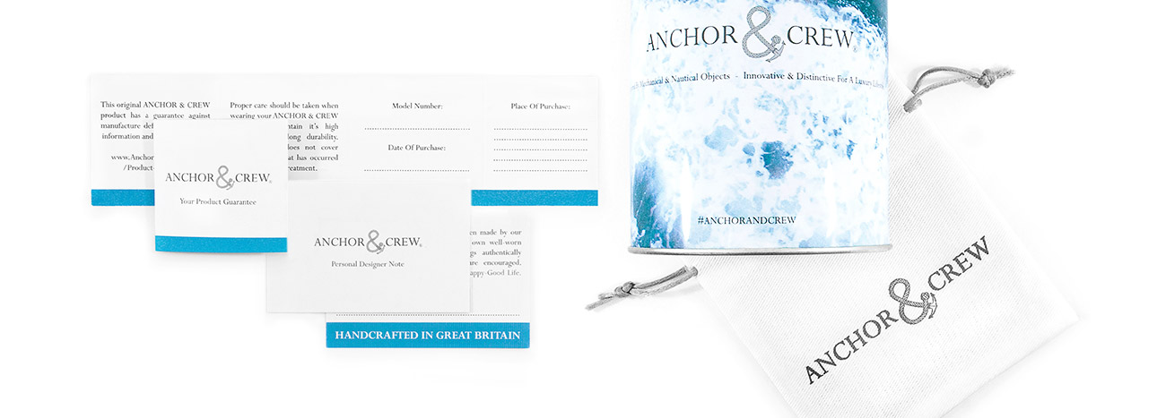 Learn More About Anchor And Crew's 1 Year Ampersand Guarantee And Care Advice