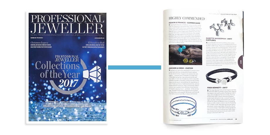 Collection Of The Year - Professional Jeweller - December 2017