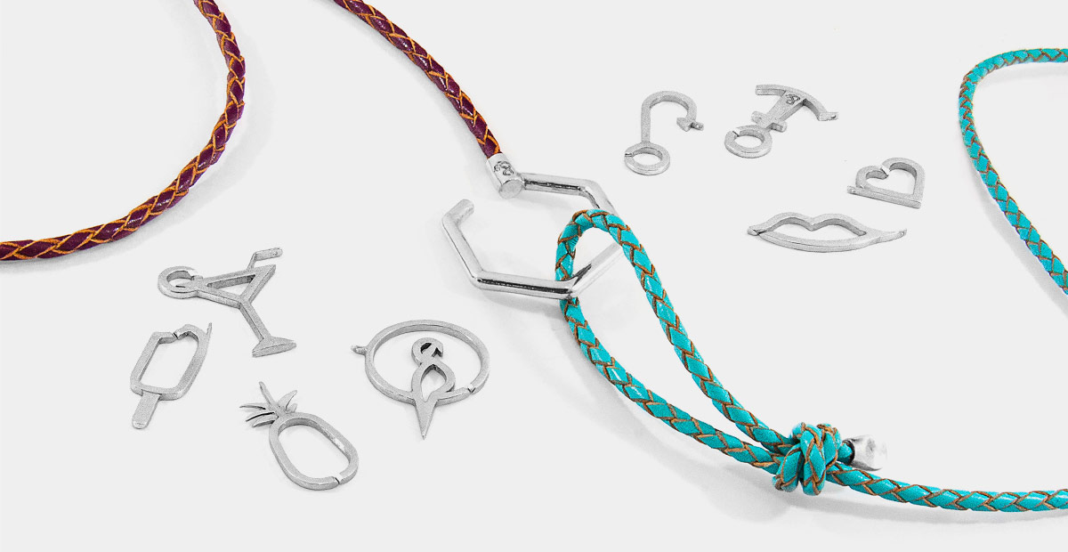 Womens Jewellery In Leather, Natural Stone And Silver