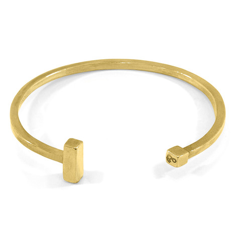 Anchor & Crew Faris Square Midi Wayfarer 9ct Yellow Gold Bangle