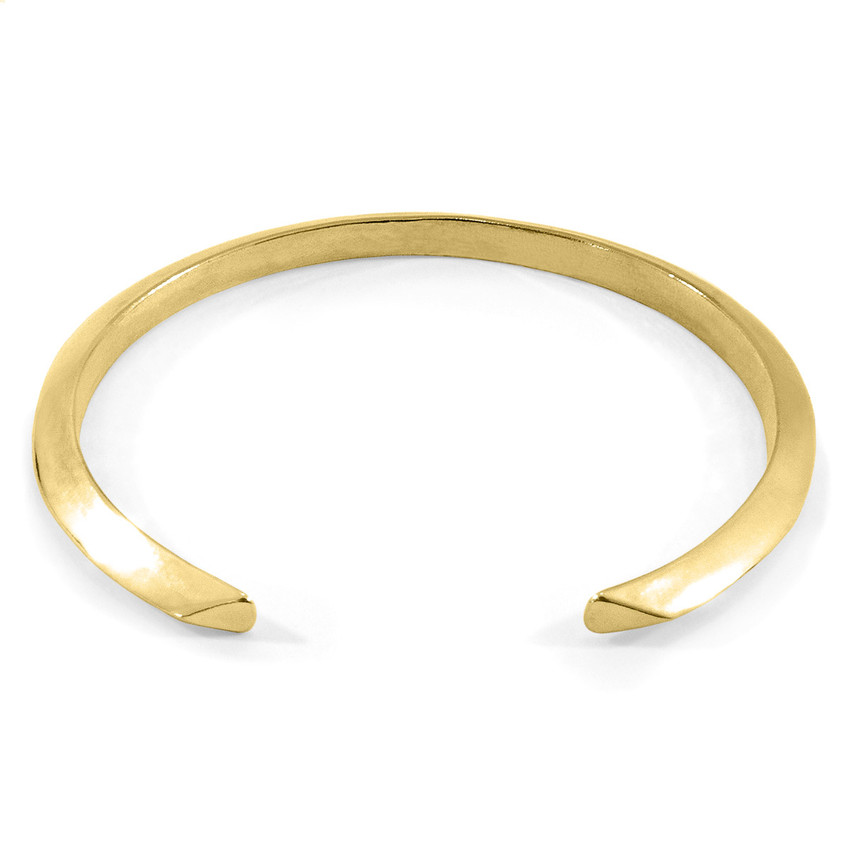Anchor & Crew Benson Triagonal Maxi Wayfarer 9ct Yellow Gold Bangle