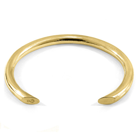 Anchor & Crew Samson Round Maxi Wayfarer 9ct Yellow Gold Bangle