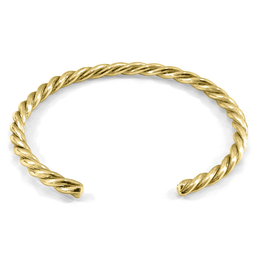 Anchor & Crew Gammell Full Rope Wayfarer 9ct Yellow Gold Bangle