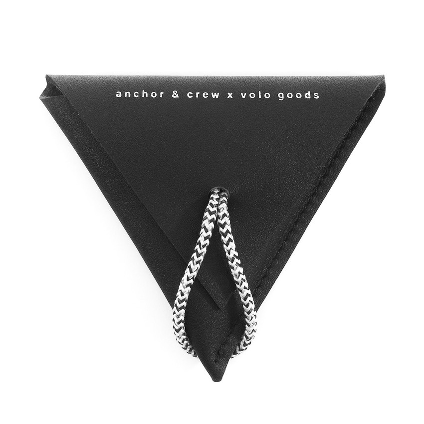 Anchor & Crew Graphite Black Dunster Leather and Rope Coin Purse