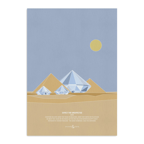 Anchor & Crew The Great Diamonds Archival Giclée Paper A3 Wall Print