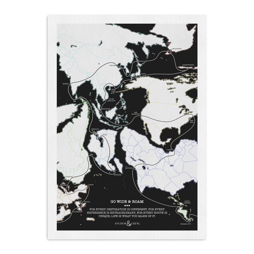 Anchor & Crew Go Wide And Roam Archival Giclée Paper A3 Wall Print