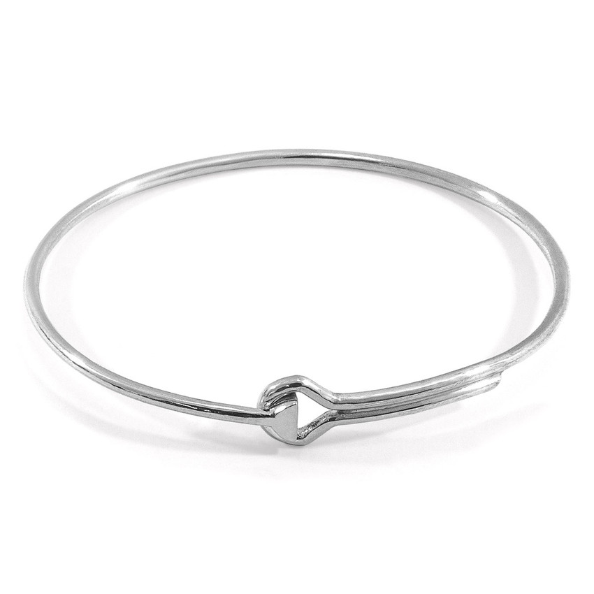 Anchor & Crew Sutton Gate Midi Geometric Silver Bangle