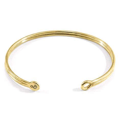 Anchor & Crew Bartlett Inline Midi Geometric 9ct Yellow Gold Bangle