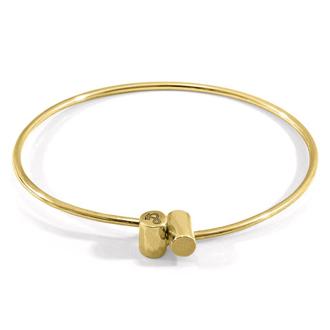 Anchor & Crew Wynne Capsule Midi Geometric 9ct Yellow Gold Bangle