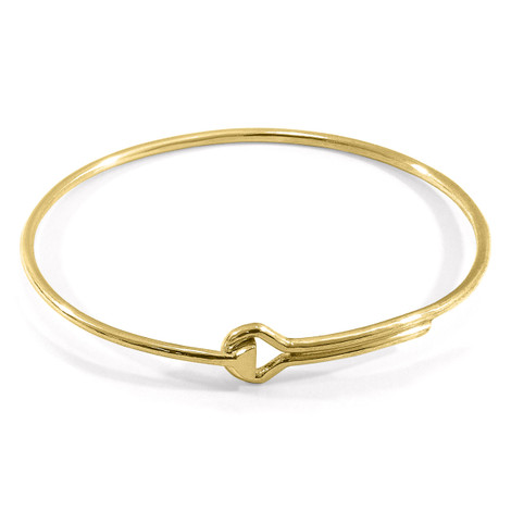Anchor & Crew Sutton Gate Midi Geometric 9ct Yellow Gold Bangle