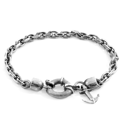 Anchor & Crew Salcombe Mooring Silver Chain Bracelet