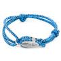 Anchor & Crew Blue Noir Tyne Silver and Rope Bracelet