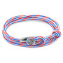 Anchor & Crew Project-RWB Red White and Blue Dundee Silver and Rope Bracelet