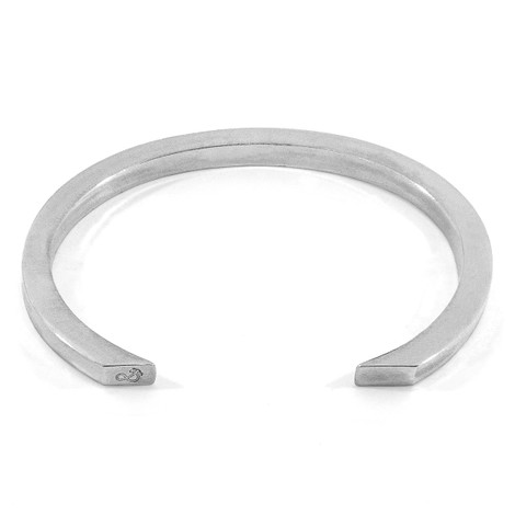 Anchor & Crew Cason Square Maxi Wayfarer Silver Bangle
