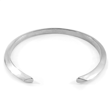Anchor & Crew Benson Triagonal Maxi Wayfarer Silver Bangle