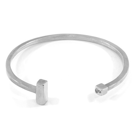 Anchor & Crew Faris Square Midi Wayfarer Silver Bangle