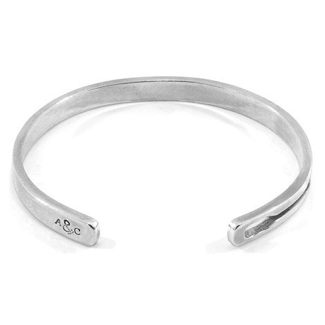Anchor & Crew Tullett Paddle Cutout Wayfarer Silver Bangle