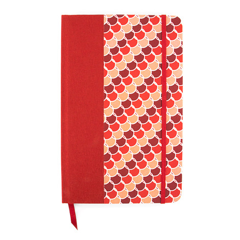 Anchor & Crew Red Adelaide Medium Hardcover Notebook