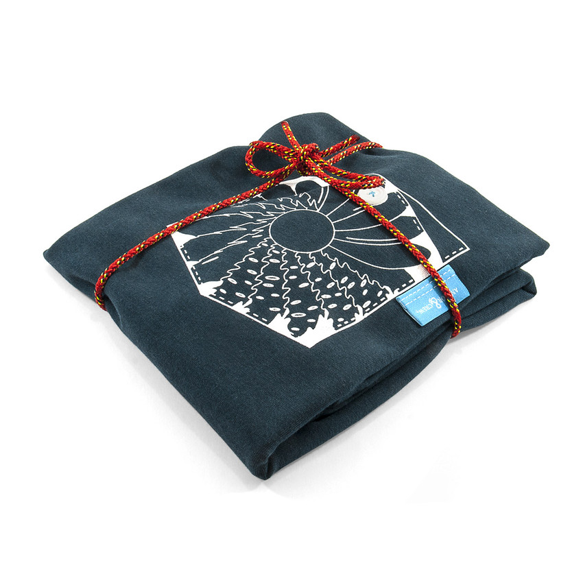 Anchor & Crew Steel Blue Explorer Print Organic Cotton T-Shirt As Wrapped