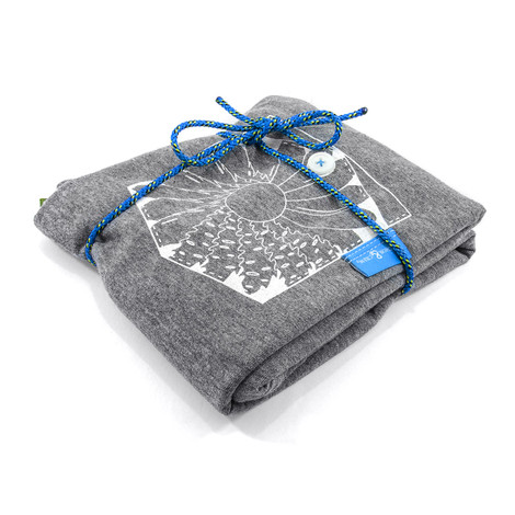 Anchor & Crew Athletic Grey Explorer Print Organic Cotton T-Shirt As Wrapped
