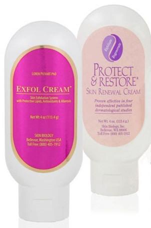 Skin Biology P & R w/ High Retinol and Exfol Cream Set
