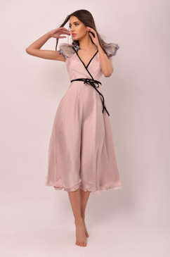 The White Queen Dress (Pale Pink Silk Dress)