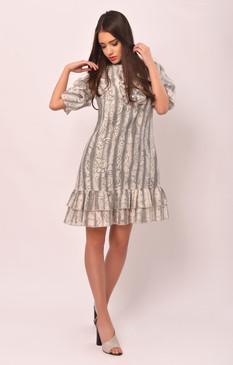 The Mock Turtle Dress (Ruffled A-cut Loose Dress)