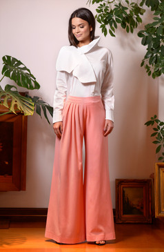 Comma Pants (Wide Leg Wool Pants)