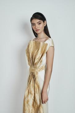 Moira Silk-Satin Wrap Gown